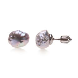 perlové náušnice keshi