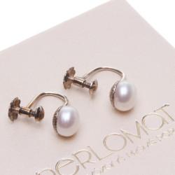 perlové klipsy
