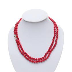 korálový náhrdelník 80 cm