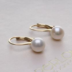 stříbrné perlové náušnice