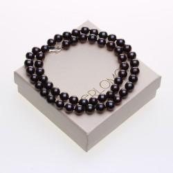 černý perlový náhrdelník, dárkové balení