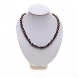 černý perlový náhrdelník 7 mm