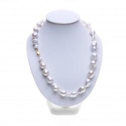 bílý náhrdelník kasumi perly