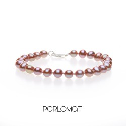 lila perlový náramek