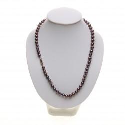 černý perlový náhrdelník - zapínání