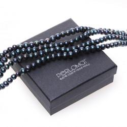černý perlový náramek