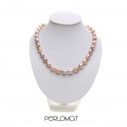 lila perlový náhrdelník