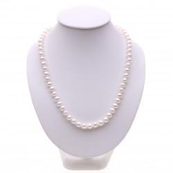 perlový náhrdelník bílý