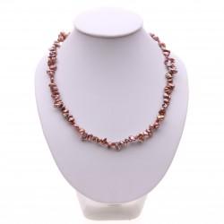 perlový náhrdelník keshi perly a granáty