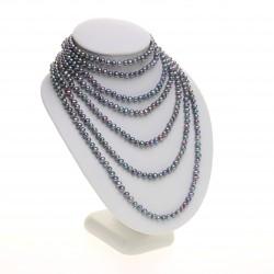 modro-černý perlový náhrdelník, dlouhý