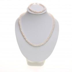perlová souprava, bílé potato perly