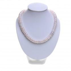 bílý perlový náhrdelník, coin perly
