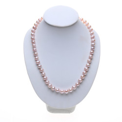 perlový náhrdelník lila