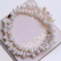 korálový náhrdelník bílý korál