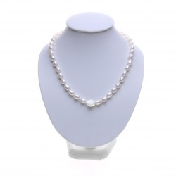 perlový náhrdelník s perleťovou růží