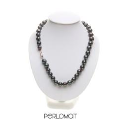 černý náhrdelník, kasumi perly