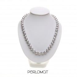 šedý perlový náhrdelník