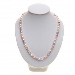 perlový náhrdelník - multicolor rýžové perly