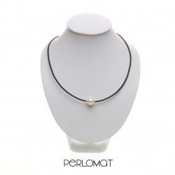 perly a kůže - kožený perlový náhrdelník