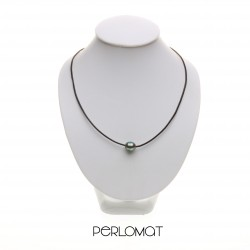 perly a kůže - náhrdelník