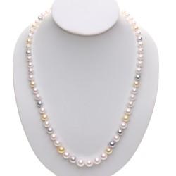 uzlíkovaný náhrdelník z akoya perel