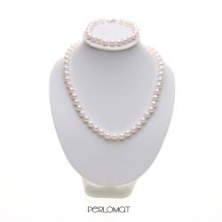 perlová souprava bílá 7 mm
