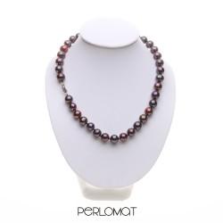 náhrdelník z černých perel