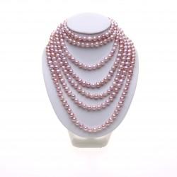 lila dlouhý perlový náhrdelník