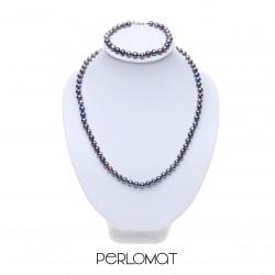 černá perlová souprava