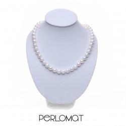 perlový náhrdelník 8,5mm, 41 cm