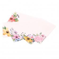dárková kartička s květy