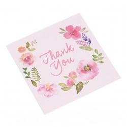 dárková kartička Thank you