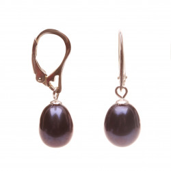 perlové visací náušnice