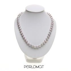 šedý perlový náhdelník
