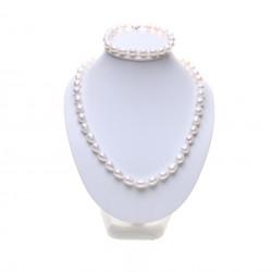 perlová sourava oválné bílé perly