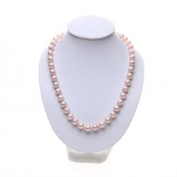 perlový růžový náhrdelník