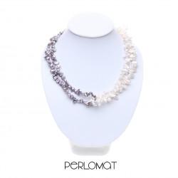 perlový náhrdelník dvoujřadý